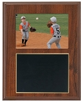 Slide-In Frame Plaque Cherry Finish  holds 3.5 x 5 photo