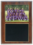 Slide-In Frame Plaque Cherry Finish  holds 5 x 7 photo