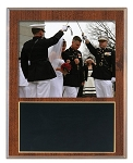 Slide-In Frame Plaque Cherry Finish  holds 8 x 10 photo