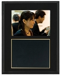 Slide-In Frame Plaque Black Finish  holds 3.5 x 5 photo