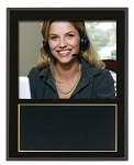 Slide-In Frame Plaque Black Finish  holds 8 x 10 photo