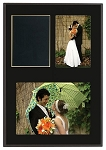 Slide-In Frame Plaque Black Finish  holds 3x5 and 5x7 photo