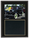 Slide-In Frame Plaque Black Finish  holds 4 x 6 photo