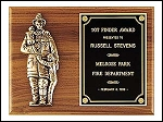 Firefighter Plaque 9X12