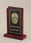 High Gloss Mahogany Finish Plaque Trophy  3x5