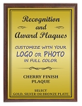 7x9 Traditional Plaque Cherry Finish