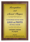 9x12 Traditional Plaque Cherry Finish