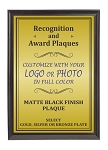6x8 Traditional Plaque Black Finish