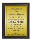 9x12 Traditional Plaque Black Finish