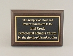 4x6 Traditional Plaque     Available in Cherry Woodgrain or Black Finish