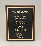 7x9 Traditional Plaque     Available in Cherry Woodgrain or Black Finish