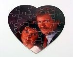 Custom Photo Printed Cardboard Heart Shaped 20 piece Puzzle