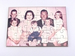 Custom Photo Printed Hardboard Rectangle Shaped 30 piece Puzzle with keepsake case