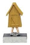COMMODE Outhouse Bobblehead Resin Award