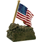 US Flag Sculpture Resin Award