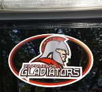 Riverheads Gladiators Oval Decal 4x6