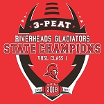 3-PEAT Football State Champions RED Apparel
