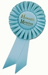 Honorable Mention Rosette Award Ribbon 3x6