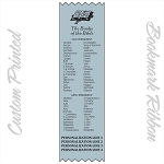 CUSTOM PRINTED The Books of The Bible Satin Ribbon Bookmark 2