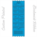 CUSTOM PRINTED 2019 Calendar Satin Ribbon Promotional Bookmarks 3