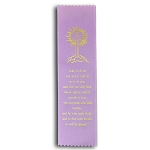 Luke 11:9-10 Satin Ribbon Bookmark 2