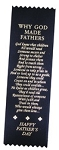 Father's Day Poem Satin Ribbon Bookmark 2