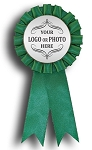 Green Insert Rosette Ribbon 3