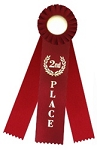 2nd Place Rosette Triple Steamer Ribbon 3