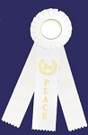3rd Place Rosette Triple Steamer Ribbon 3x10