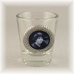 Pewter Accent Shot Glass 1.5 oz