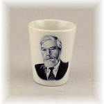 Photo Printed Ceramic Shot Glass White 1.9 oz