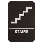 Stairs ADA Sign 6x9 Black