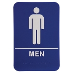 Mens Bathroom ADA Sign 6x9 Blue