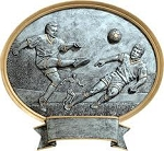Soccer Male Oval Award Plaque 6