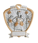 Cheerleader Shield Plaque