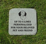 Dachshund Pet Remembrance Memorial Stone 12x12