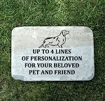 Dachshund Pet Remembrance Memorial Stone 12x18