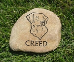 Labrador Pet Memorial Grave Marker Garden Stone River Rock 7