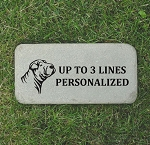 Shar Pei Memorial Stone 6x12 Pet Shar Pei Headstone