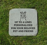 Schnauzer Pet Memorial Stone 12x12