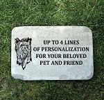 Yorkie Yorkshire Terrier Pet Memorial Grave Stone 12x18
