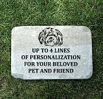 Shih Tzu Pet Memorial Headstone 12x18