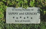 DOG PAW PRINT Pet Memorial Grave Markers 6x12 Bluestone