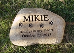 Dog Paw Print Memorial Stone River Rock 10-12