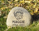 Ferret Pet Memorial Grave Marker Garden Stone River Rock 7