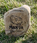 Guinea Pet Memorial Grave Marker Garden Stone River Rock 7