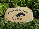 Lizard Pet Memorial Grave Marker Garden Stone River Rock 7