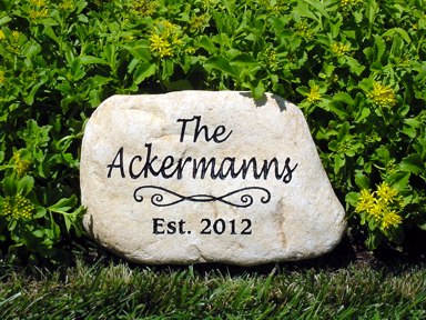 Garden Stones Engraved Personalized memorial garden stones and engraved river rock garden engraved river rock garden stone 10 12 inch workwithnaturefo