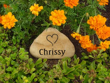 Garden Stones Engraved Engraved garden stones and personalized word rocks engraved river rock garden stone 7 9 inch workwithnaturefo