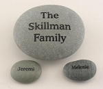Signature Stone Family Rock and 2 Name Stones Set